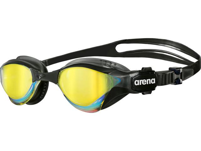 arena Cobra Tri Mirror Goggles, revo-black-black